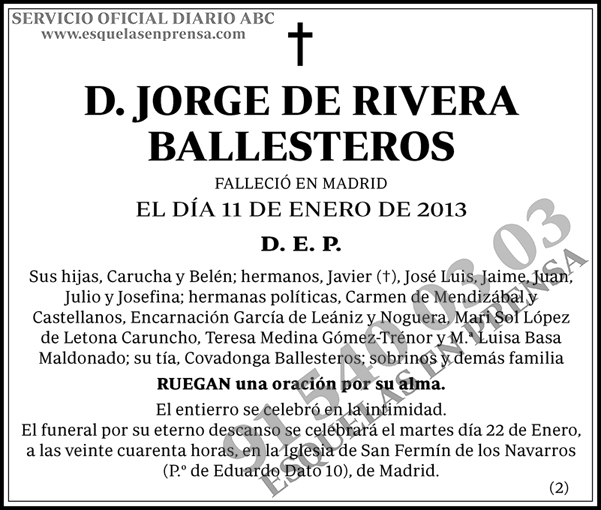 Jorge de Rivera Ballesteros
